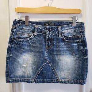 ONLY denim/jean miniskirt!